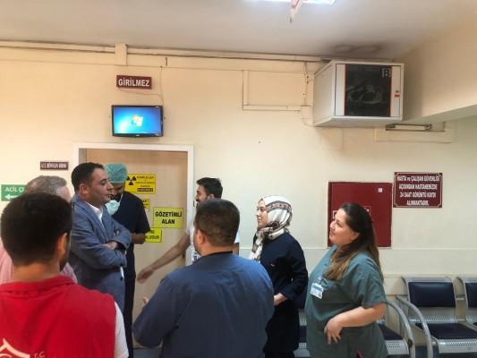 Başkan Yabir sınır bölgesindeki sağlık personellerini yalnız bırakmadı