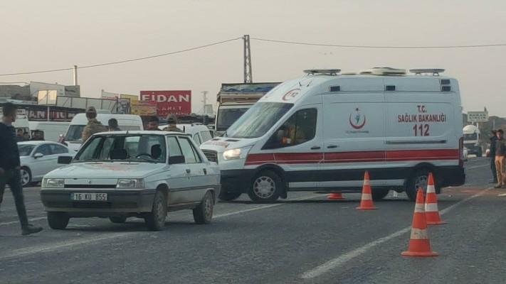 Eyyübiye'de trafik kazası: Yayaya çarptı