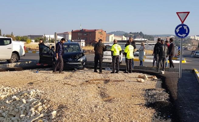 Karaköprü'de aynı noktada yine kaza oldu