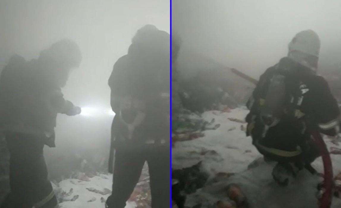 Şanlıurfa'da bir depoda çıkan yangın korkuttu
