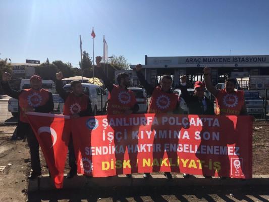 Şanlıurfa'da işçilerin eylemi sürüyor!
