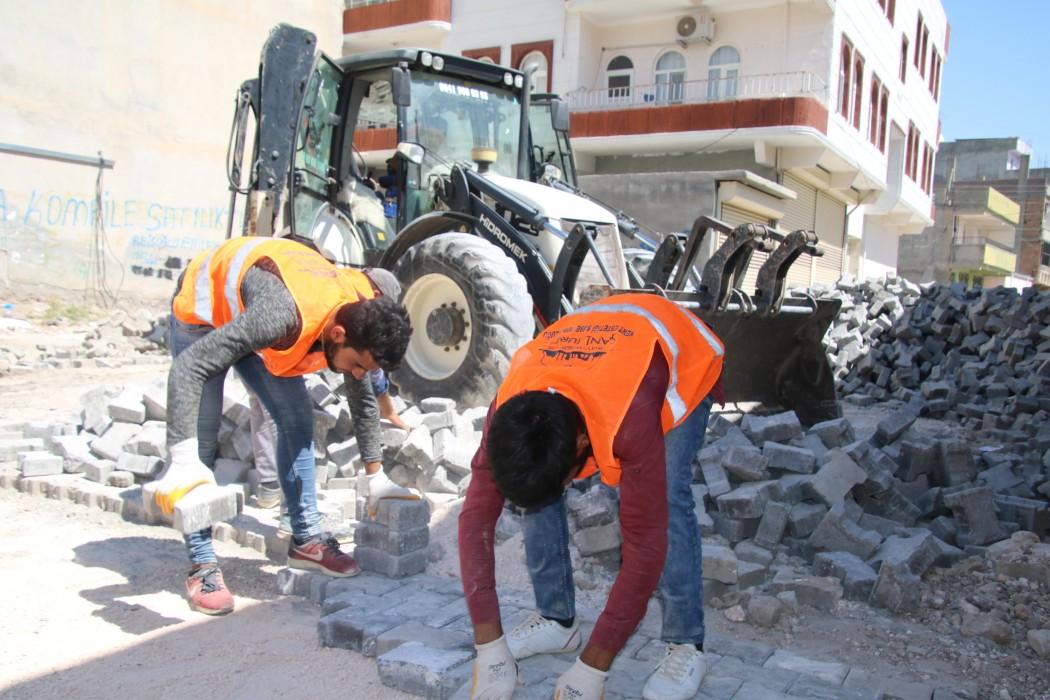 Şanlıurfa'da parke çalışmaları devam ediyor