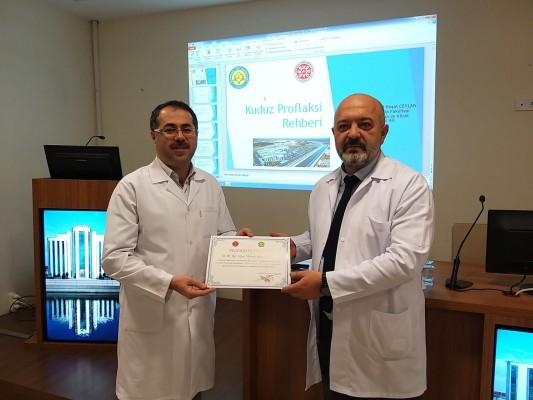 Urfa'da 'Kuduz Profilaksi Rehberi Eğitimi' verildi